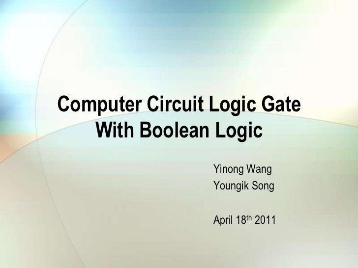 Computer circuit logic