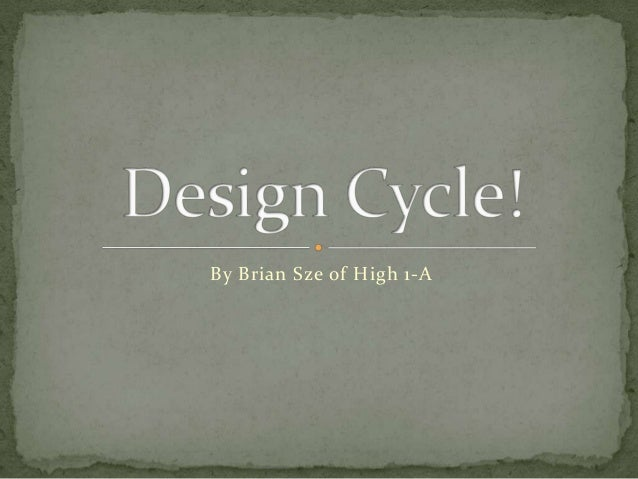 Computer design cycle