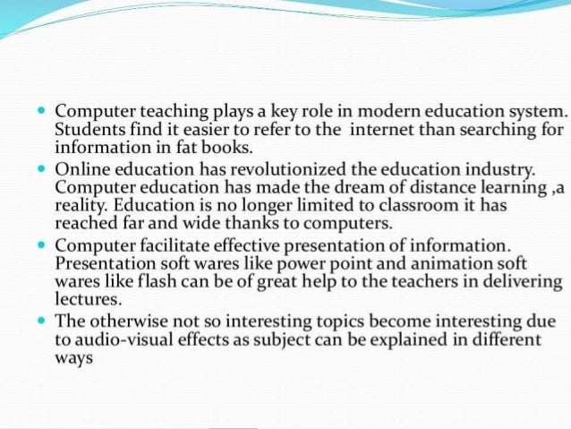 Essay On Effective Education System