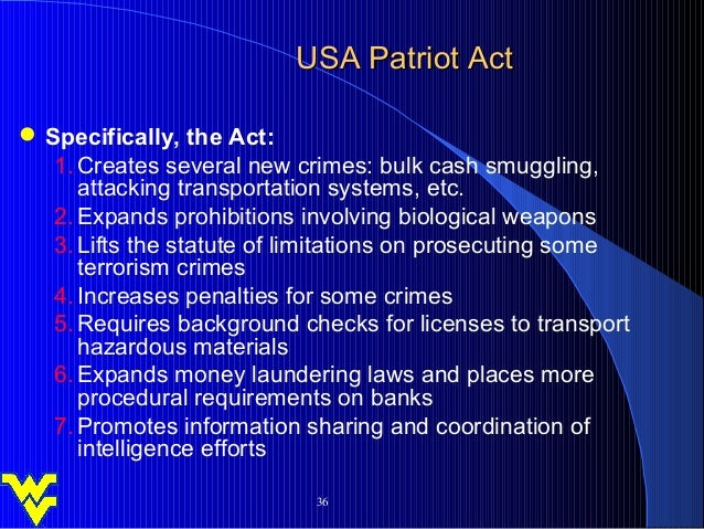 patriot act 3 essay Chapter 3 privacy act of 1974 and the  no open discussion or  debate in the passing of the patriot act there was the attitude that one was either  for.