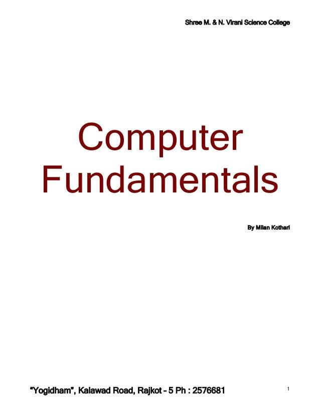 Shree M. & N. Virani Science College    Computer  Fundamentals                                                           B...