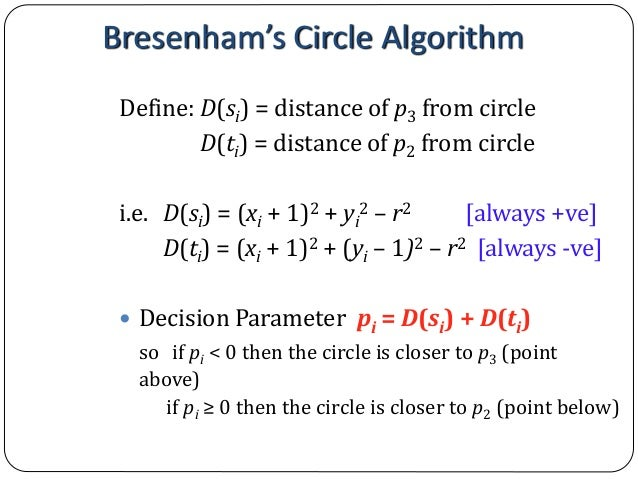 Line Drawing Algorithm Graphics : Computer graphics bresenham s line drawing algorithm