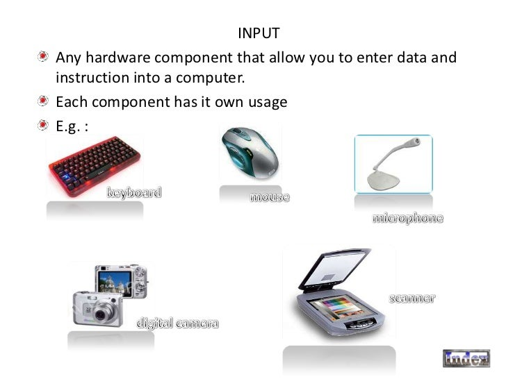 Input Output And Storage Devices