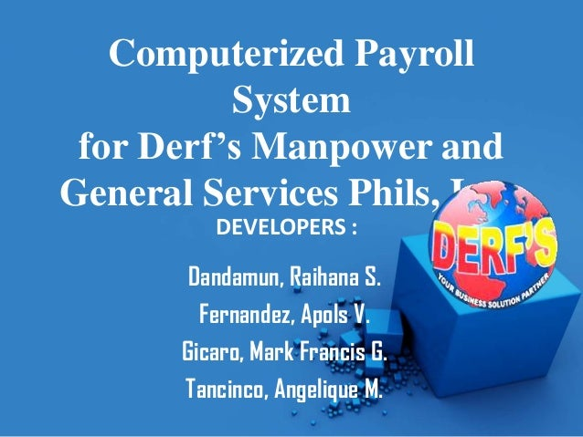 automated payroll system introduction In computing the payroll for employees with an automated payroll system the purpose of the said automated payroll system is to keep track of everything that has to do with the payment of employees and the filling of employment taxes introduction today, people tend.
