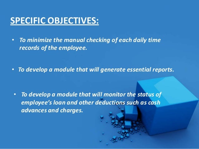 Objectives of a Payroll System