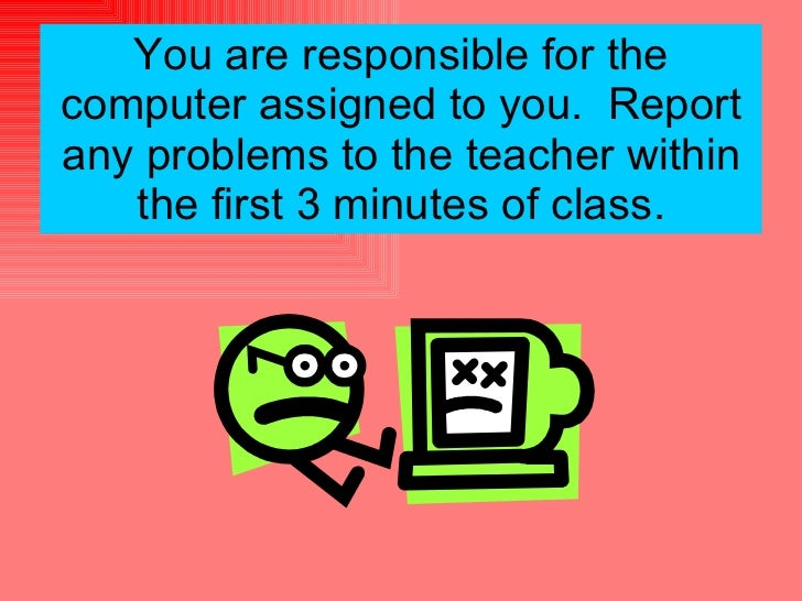 Computer lab etiquette for Kid chat rooms 12 14