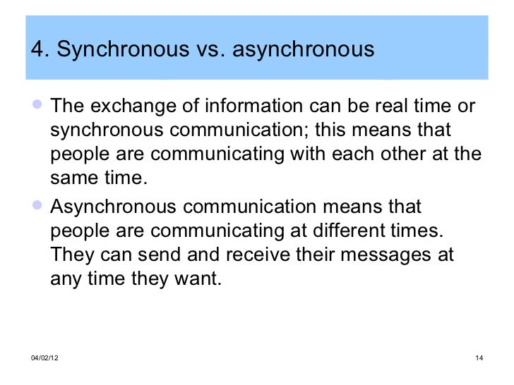 Advantages of computer mediated communication