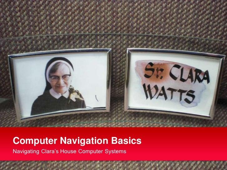 Computer navigation basics
