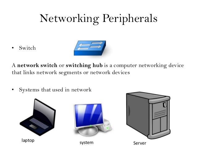 Computer network and networking peripherals itm