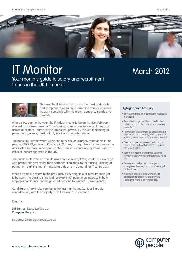Computer People It Monitor March 2012