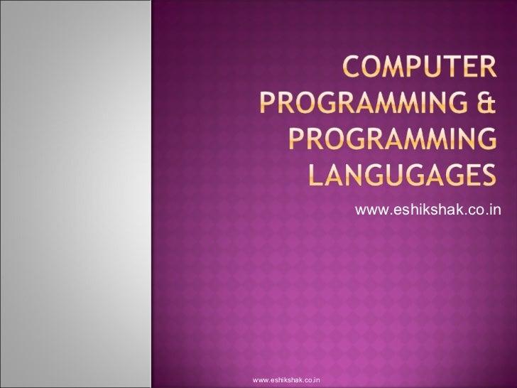 Computer programming programming_langugages