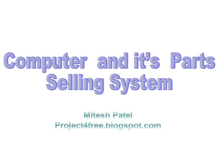 Computer sales system