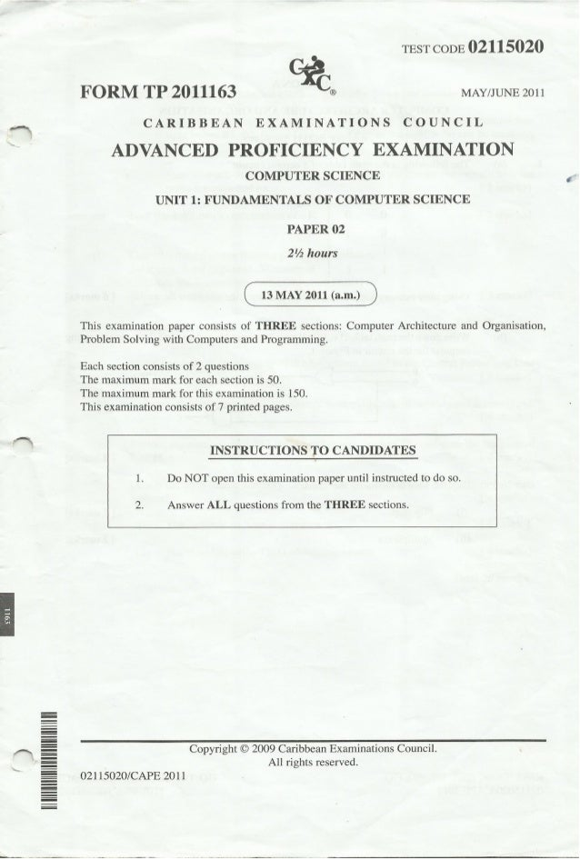 research papers in computer science 2011