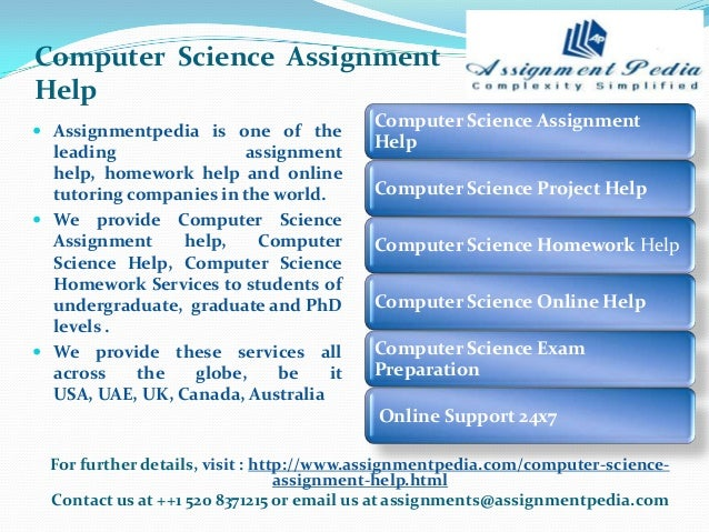Computer science online homework help