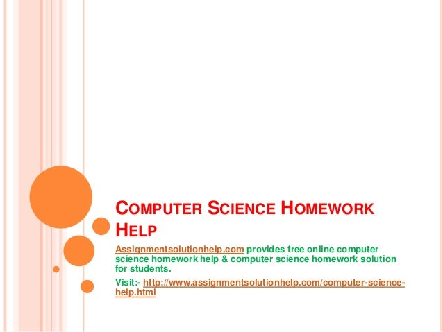 Homework help for computer science - Stonewall Services