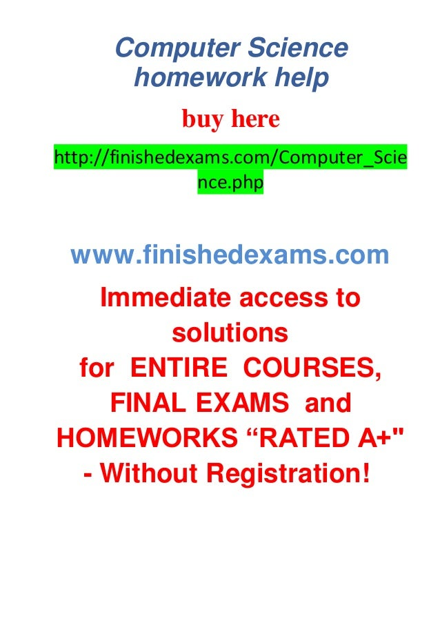 Computer Science easy writer website