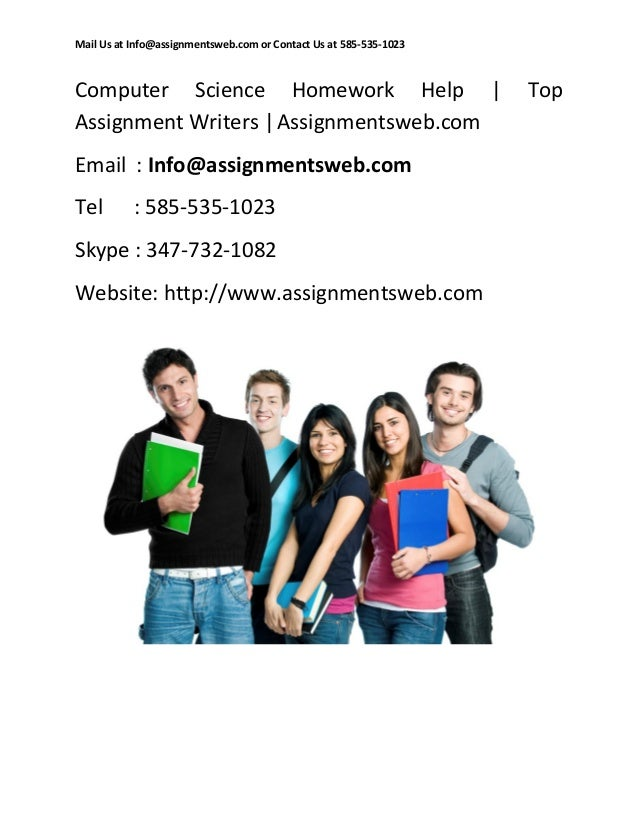 computer science homework help Quick online computer science assignment, homework, project solutions from live online computer science experts & tutors get computer science assignment help, homework help, project help from instant tutors.