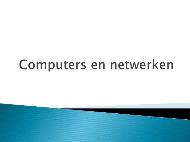 Computers en netwerken