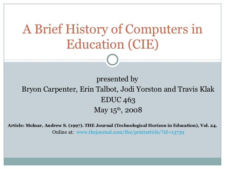 Computers In Education History