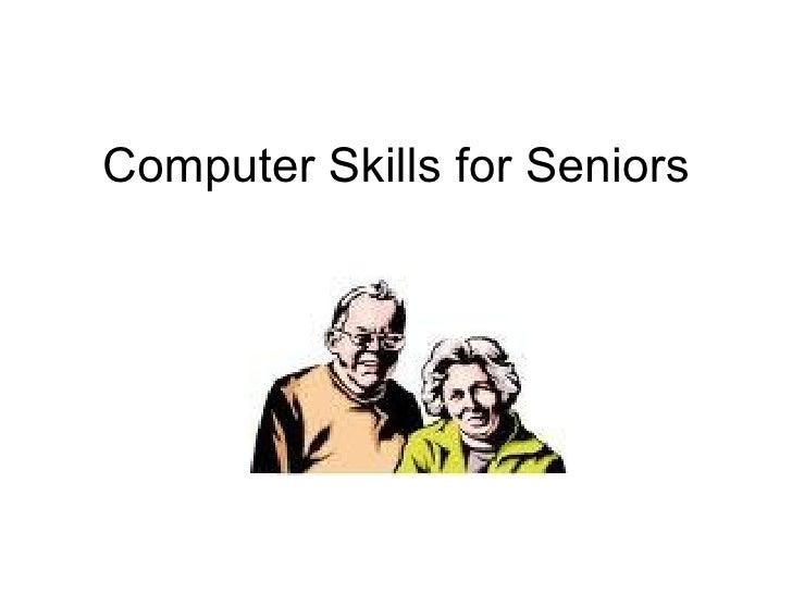 Computer skills for seniors