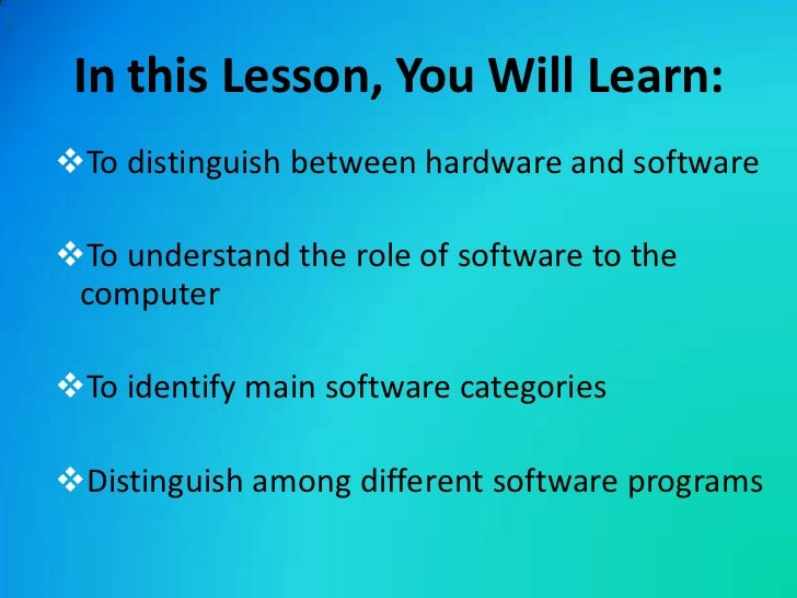 distinguish between operating system software and application software