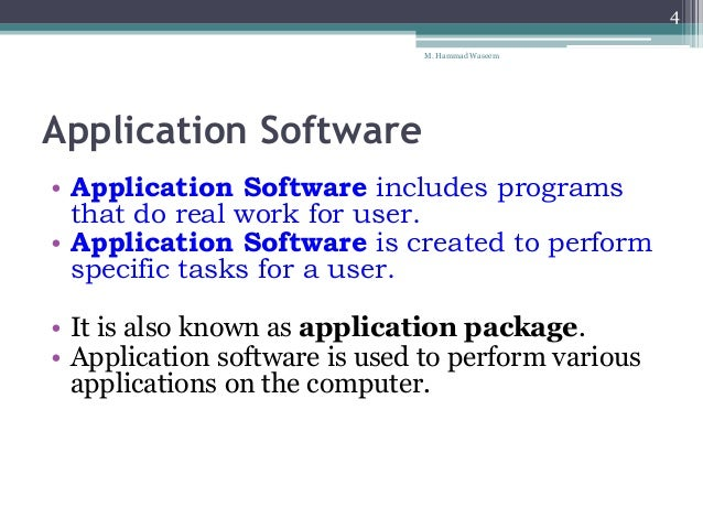 an overview of application software system and its different programs What are 10 examples of application software a: quick answer specific examples of application software include microsoft office,  system software,.