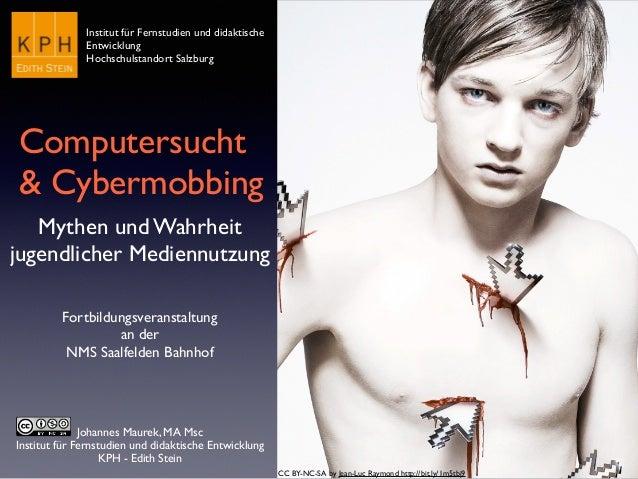 Johannes Maurek, MA Msc  Institut für Fernstudien und didaktische Entwicklung  KPH - Edith Stein Computersucht   & Cybe...