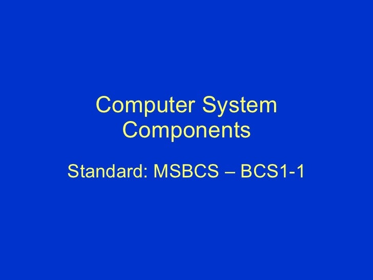 Computer system components 6th grade frit 8530