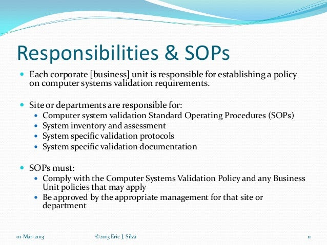 standard operating procedure tips standard operating