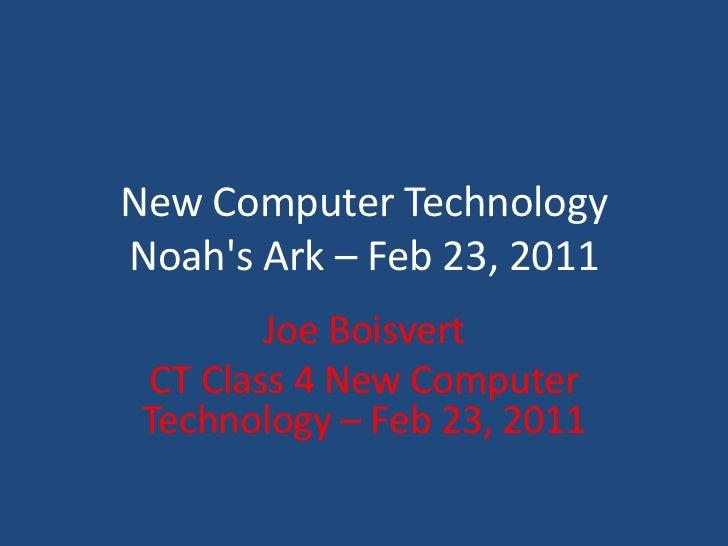 CT Class 4  New Technology Technology (scanning)Feb 23, 2011