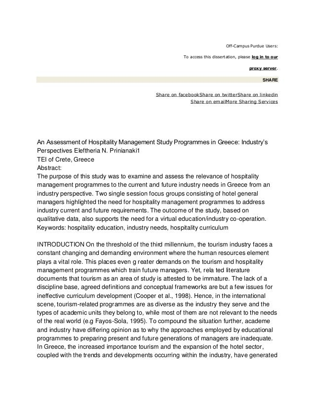 dissertation education