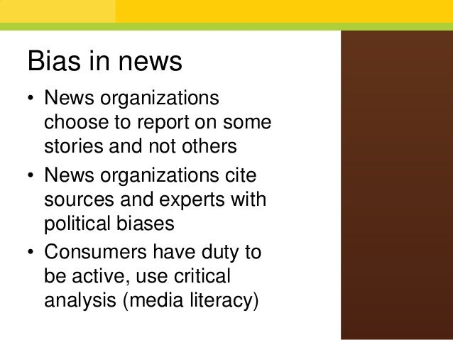 Essay on bias news