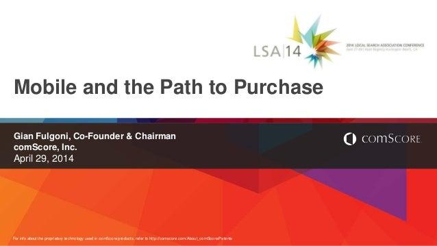 LSA|14: Gian Fulgoni, Executive Chairman and Co-Founder, comScore