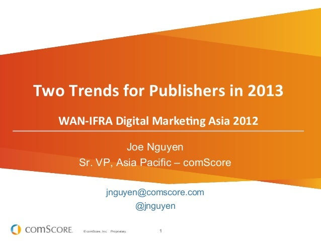 Two	  Trends	  for	  Publishers	  in	  2013	                                                   	                          ...