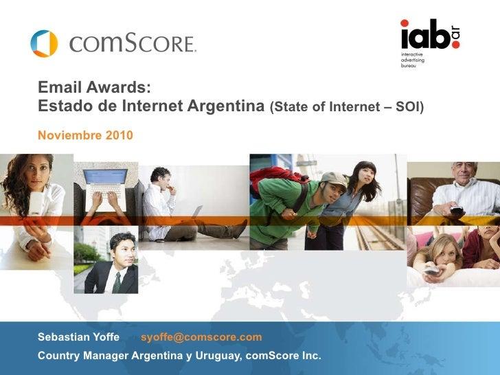 Email Awards 2010- Panel Casos de éxito. Conferencia Sebastian Yoffe - Com score emailawards