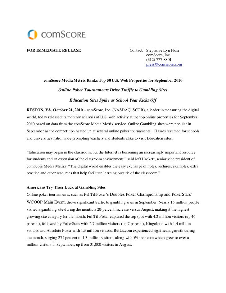FOR IMMEDIATE RELEASE                                            Contact: Stephanie Lyn Flosi                             ...