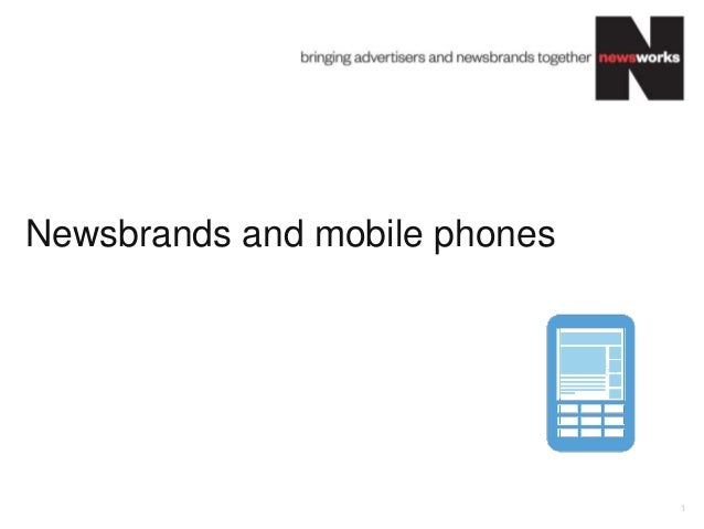 Newsbrands and mobile phones 1