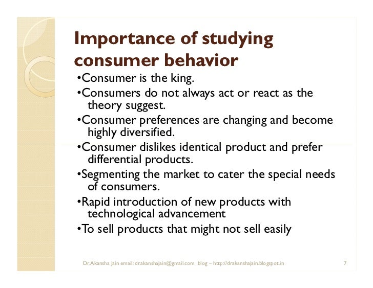 importance of consumer behavior to marketers Free essay: consumer behavior & marketing in their process of goods and services consumption customers are influenced by different factors that marketers.