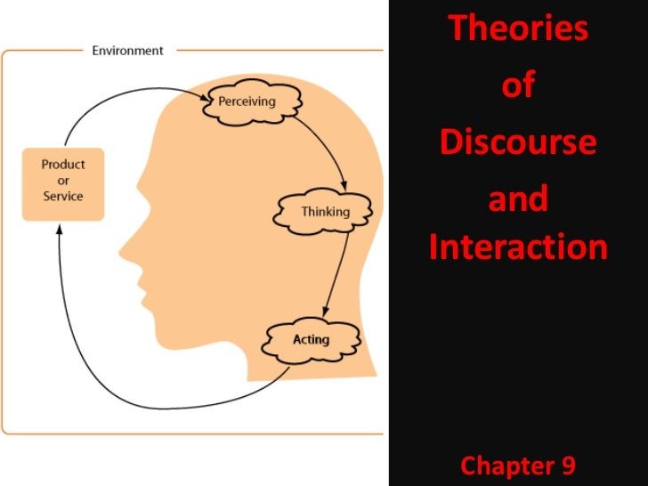 Theories                 of             Discourse                and            InteractionChapter 9             Chapter 9