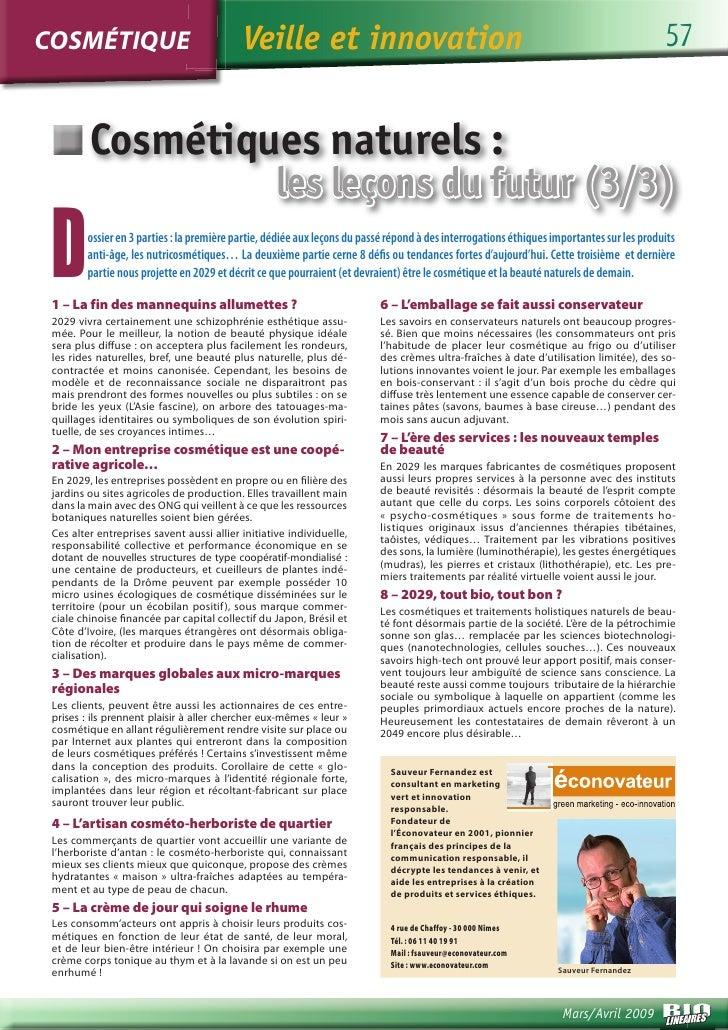 COSMÉTIQUE                                 Veille et innovation                                                           ...