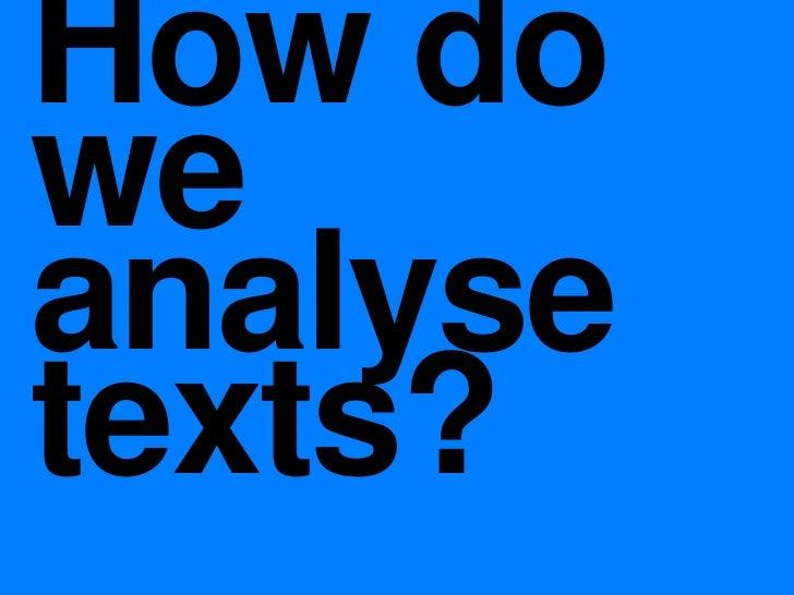 COMU1000 Text Analysis