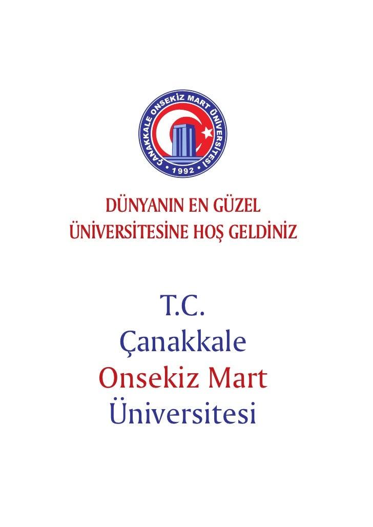 ÇOMÜ 2012 Tanıtım Broşürü- www.canakkaleicinde.com