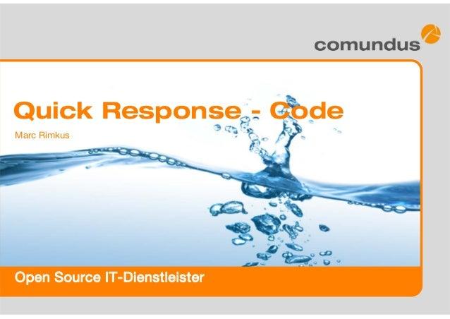 Open Source IT-Dienstleister Marc Rimkus Quick Response - Code