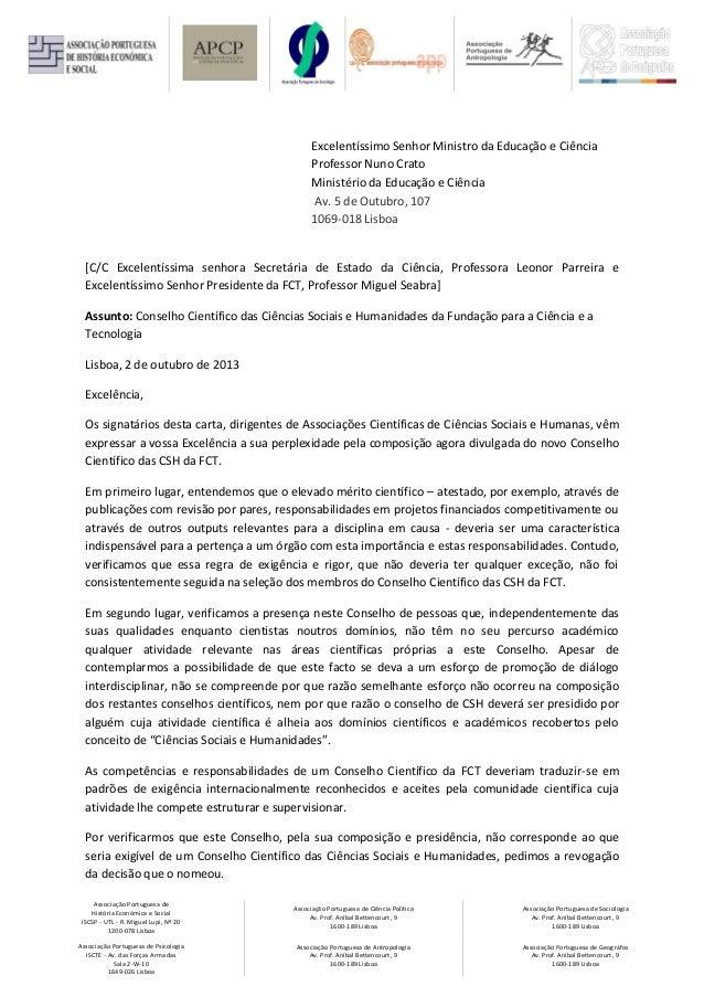 Comunicacão associacões CSH ao MEC
