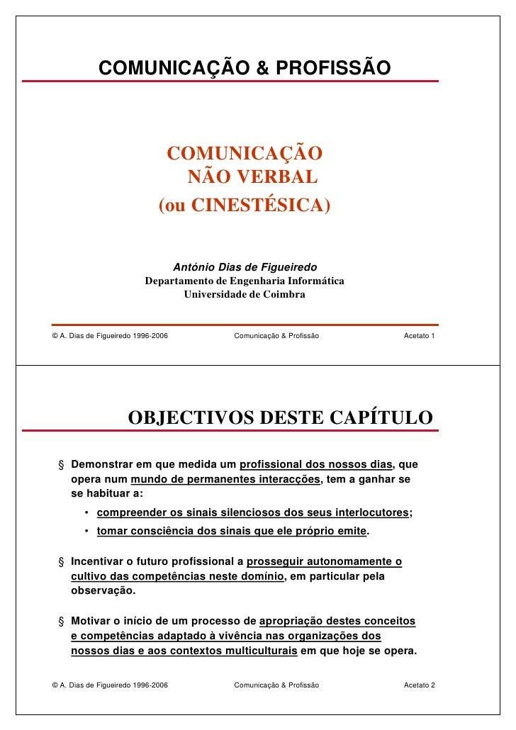 COMUNICAÇÃO & PROFISSÃO                                   COMUNICAÇÃO                                  NÃO VERBAL         ...