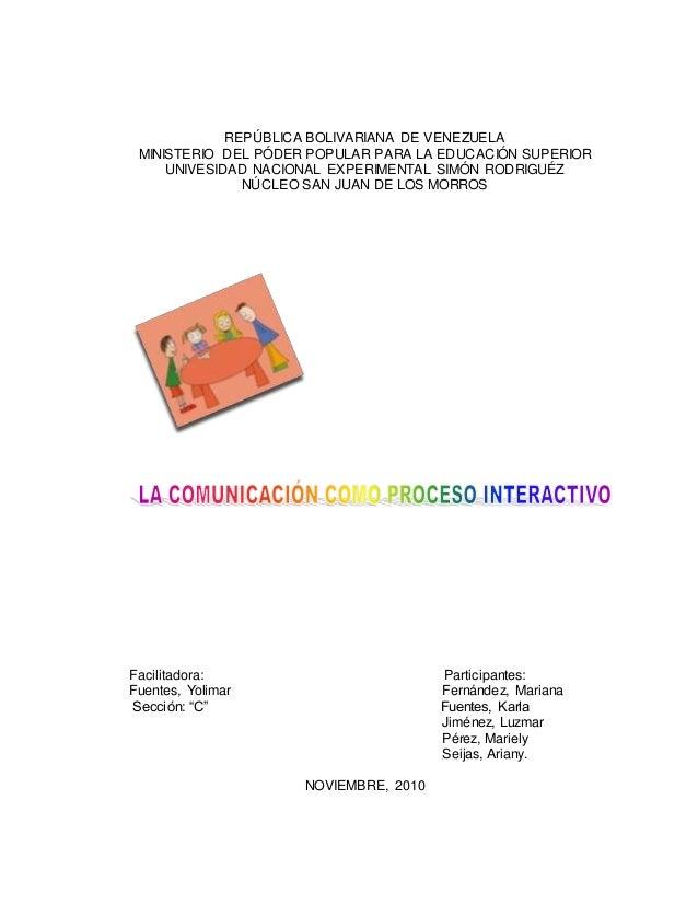 REPÚBLICA BOLIVARIANA DE VENEZUELA MINISTERIO DEL PÓDER POPULAR PARA LA EDUCACIÓN SUPERIOR UNIVESIDAD NACIONAL EXPERIMENTA...