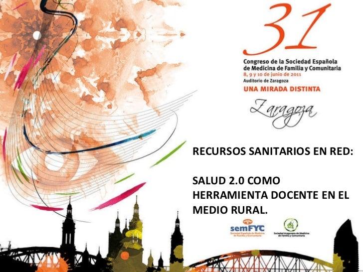 Comunicación 31 congreso Semfyc Zaragoza 2011