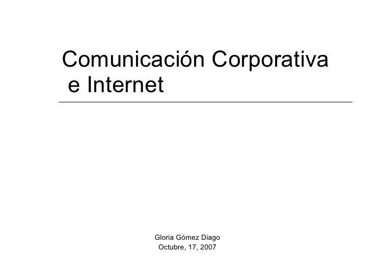 Comunicación Corporativa e Internet (2007)