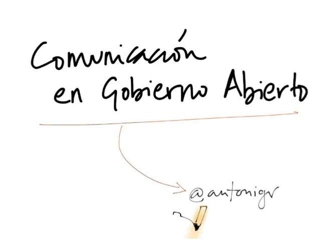 Comunicación en gobierno abierto