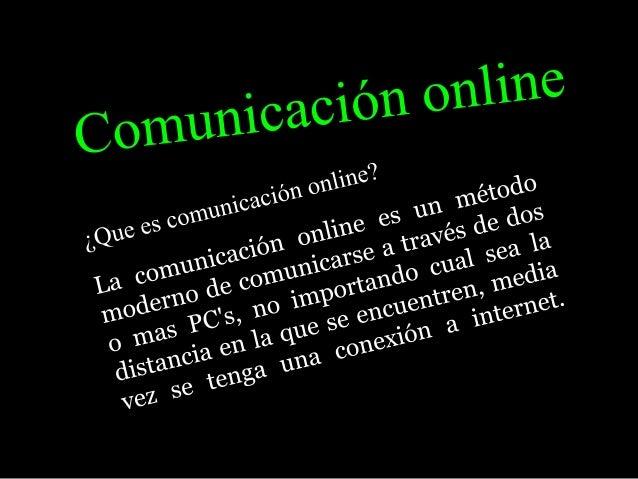 Comunicación online pawer point